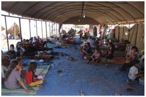 Kurdish Yazidi refugees receiving support from the International Rescue Committee