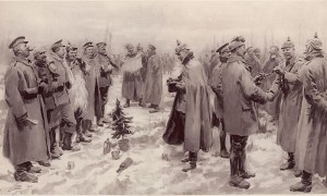 http://en.wikipedia.org/wiki/File:Illustrated_London_News_-_Christmas_Truce_1914.jpg