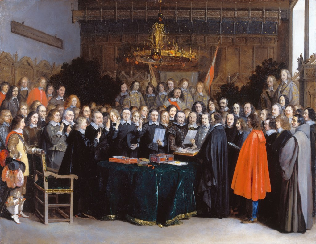 Ratification du Traité de Münster, 15 Mai 1648 (1648) par Gerard ter Borch