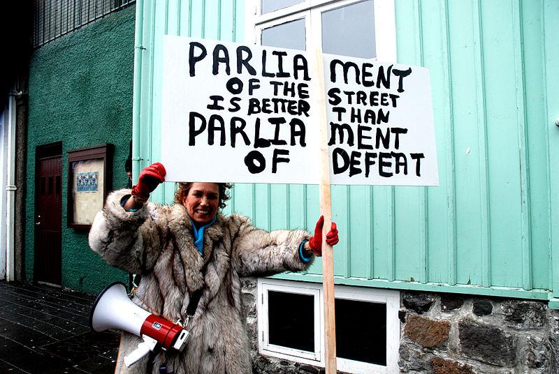 Manifestation à propos de Icesave, 6 mars 2010, par Ane Cecilie Blichfeldt - norden.org