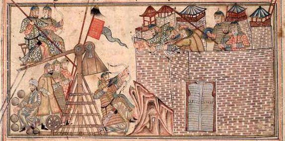 Enluminure du manuscrit de Rashid ad-Din's Jami al-Tawarikh. Edinburgh University Library. Circa 1307.