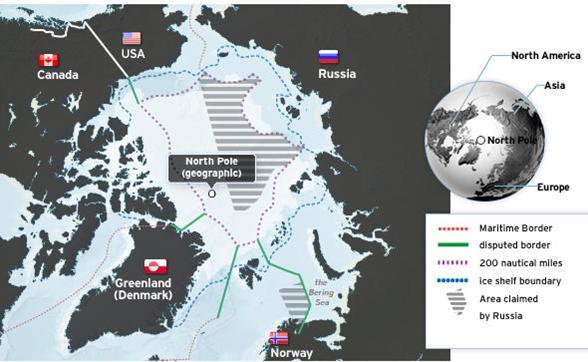 Revendications territorialises en Arctique